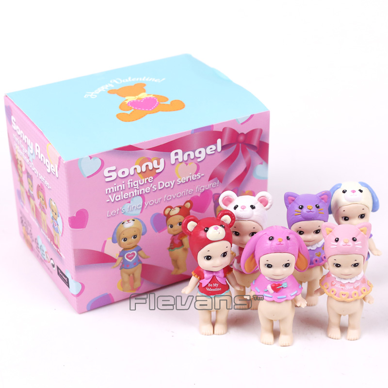 Sonny Angel Valentine's Day Series 2017 Animals Sonny Angel Mini PVC Figures Collectible Model Toys 6pcs/set 8cm sonny angel mini figures easter series 6pcs set toys christmas