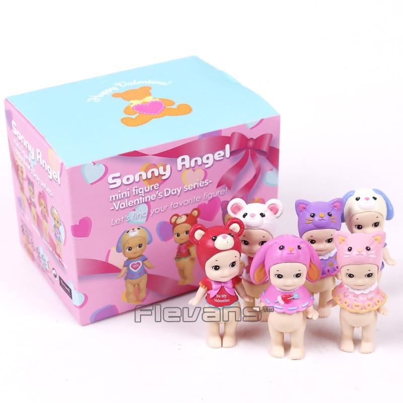 Sonny Angel Valentine's Day Series 2017 Animals Sonny Angel Mini PVC Figures Collectible Model Toys 6pcs/set 8cm sonny angel mini pvc figures animal series version 4 baby toys dolls 12pcs set 8cm dsfg352