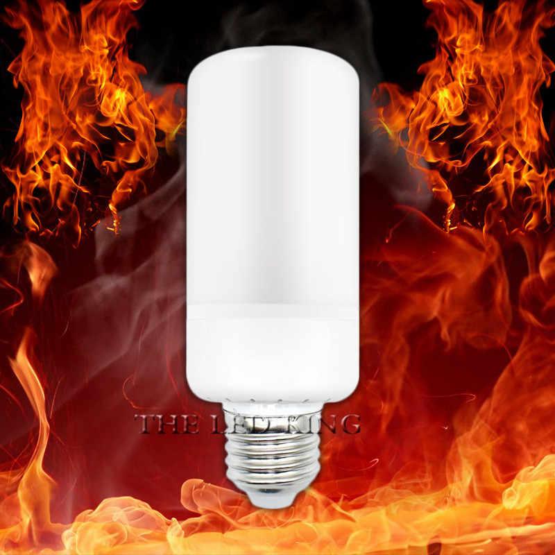 LED مصباح متوهج على شكل شعلة E27 15 واط LED لهب تأثير ضوء لمبة E40 E14 G4 9 واط 110 فولت 220 فولت الإبداعية الخفقان مضاهاة أضواء الديكور