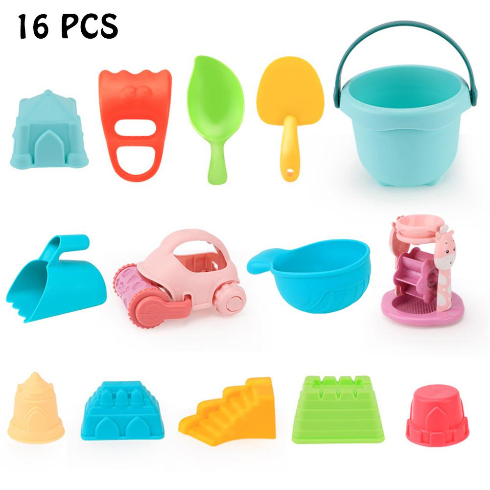 Soft Plastic Beach Toys Set For Kids ATV Beach Shovel Outdoor Combination Play Water Sand Toy Modeling And Sculpture In Stock