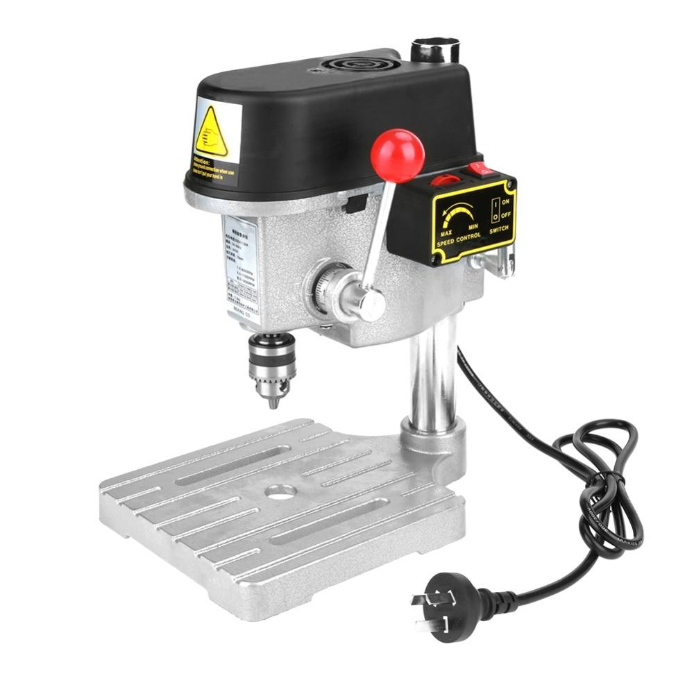 220V 340W Mini Drill Press Table Drill Press Workbench Mini Compact Drill Wood Drilling Machine CN Plug Power Tools Accessories