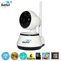 Free Shipping Home Security IR Light Vision Wifi IP Camera HD 720P Mini Surveillance Camera Two