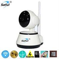 Главная безопасности беспроводных ip-камер WIFI ИК свет видения HD 720 P Мини камеры наблюдения с подкладкой удаленного Интерком ребенка cctv монит...
