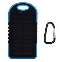 Waterproof Solar Power Bank 5000mAh Portable Charger Travel Enternal Battery Powerbank For Xiaomi Phone 5S 6