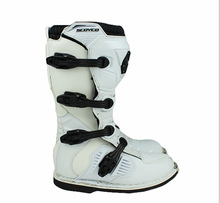 Free shipping Scoyco MBT001 riding boots shoes boots racing boots highway motorcycle riding/white