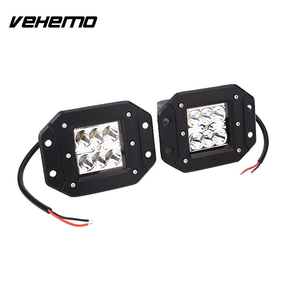 2Pcs 5 Inch Car Trucks Off Road LED Work Light Driving Lamps Worklight 30W