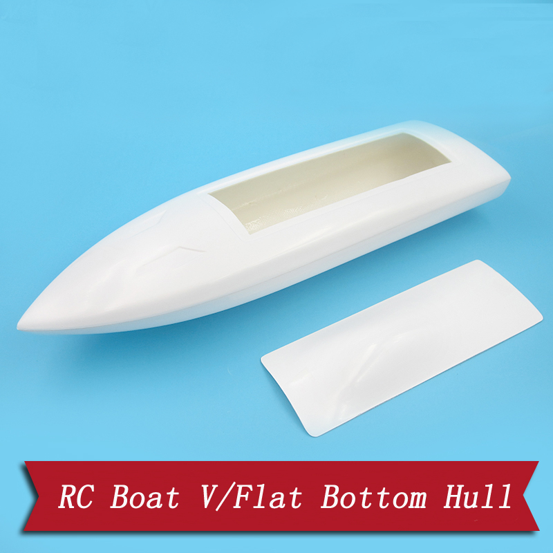 FRP Radio Control Boat Hull Flat Bottom Brushless Electric  Sheel+Driven Kit 40x12.5CM Jet  Pump RC Ship Skin Parts
