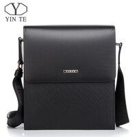 YINTE классическая мужская сумка мессенджер мужская деловая сумка через плечо жесткий портфель сумка через плечо кожаная сумка портфель T8203 2