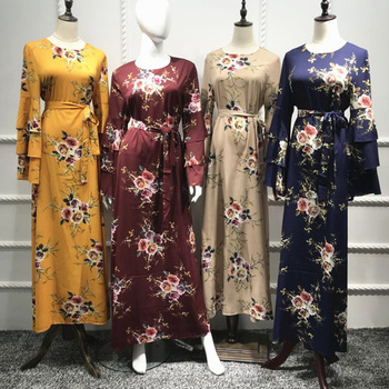 Caftan Abaya dubaï Bangladesh Islam robe 2019 Vestidos Bandage arabe femmes  musulmanes Hijab robe turque islamique Elbise vêtements
