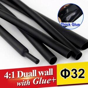 1.22 metrów/partia 32mm 4:1 Ciepła Rury Skurczową Dual Wall Rurki z grube Klej heatshrink Kleju Pokryte Rękawem Owijania cable kit