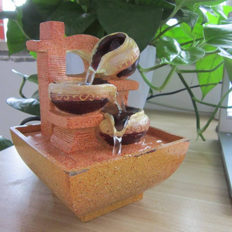 europea lucky fuente de agua rocalla resina adornos de escritorio de aire de interior mesa