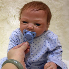 18 Inch 45 CM Reborn Baby Doll Cloth Body Realsitic Lifelike Newborn Babies Silicone Boy With Clothes Kids Birthday Xmas Gift