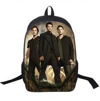 Tv Show Supernatural Backpack Sam Dean Castiel School Bags For Teenagers Men Women Daily Backpack Boys
