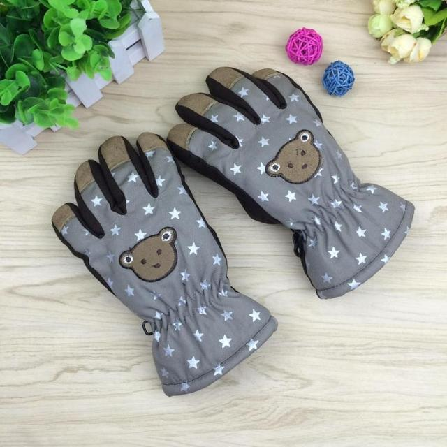 Child winter gloves thermal male female child cartoon water ski gloves cold-proof bag gloves 10-12 ages