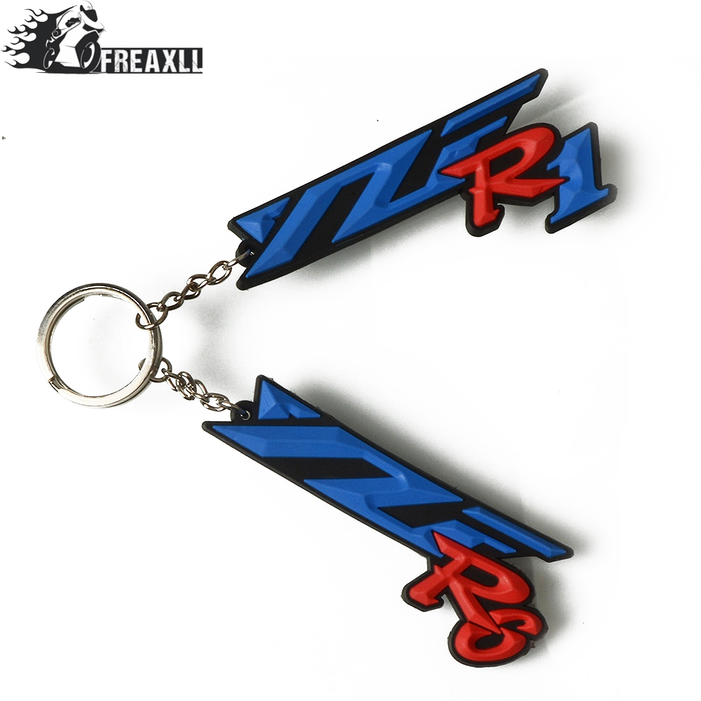 Motorcycle Accessories Red Key Ring Cool Key Chain 3D Soft Rubber Yamaha YZF R6