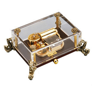 30 crystal canon music box birthday gift music box home decor collection