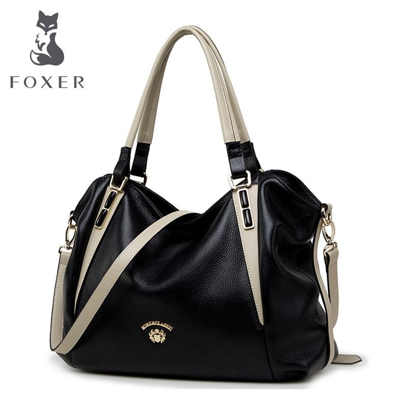 FOXER Брендовые женские из натуральной кожи сумка женская сумка женские роскошные сумки женские модные кожаные сумки для женщин