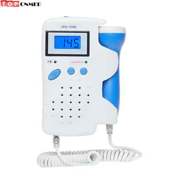Jumper 100B Fetal Doppler Baby Heart Beat Monitor Pregnant Monitor 2.5MHz Probe+Rechargable Battery EU/US Power Option - Category 🛒 Beauty & Health