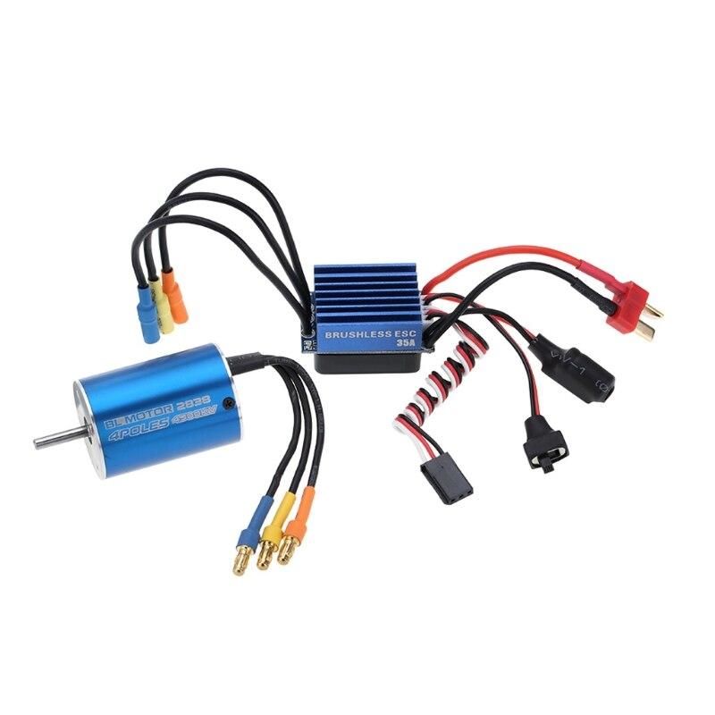 2838 4500KV 4P Sensorless Brushless Motor & 35A ESC for 1/14 1/16 1/18 RC Car new 2838 4500kv 4p sensorless brushless