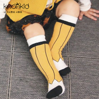 Kacakid Pencial Design Children Kids Boys Girls Tobaby Anti Slip Cotton Knee High Sock Baby Anti Slip Meias Infantil Cheap Stuff