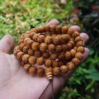 8mm Natural Peach Wood Beads Carved Lotus Wood Beads 108 Mala Beads Buddhism Prayer Yoga Necklace or Bracelet DIY Beads