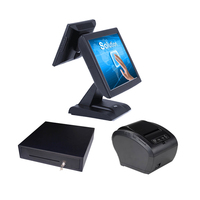 High End Restaurant POS Cash Register Dual Screen Touch Screen Sales Terminal Computer All In The