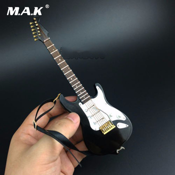 цена на Accessory Musical Instrument Model 1/6 Black Folk electric guitar model Toys Collections For 12