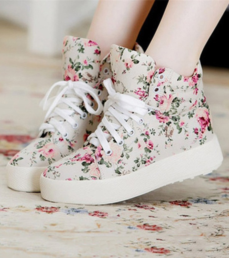 Summer Sport Casual Shoes 2018 New Women Fashion Print Canvas Shoes female Footwear Leisure Women Vulcanize Shoes CLD903 (3)