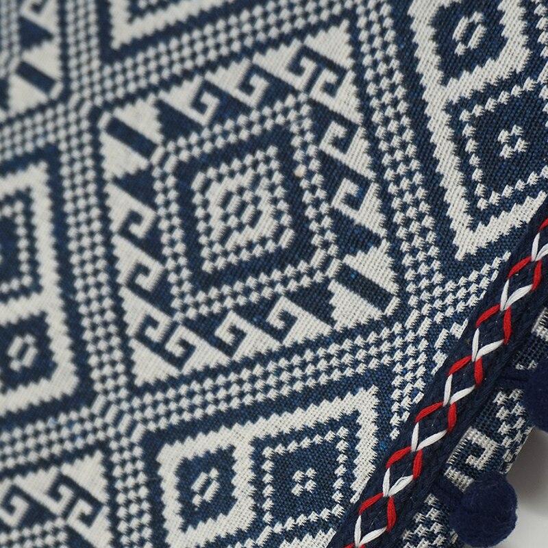 Women's Geometric Ornament Pom Pom Messenger Bag 3