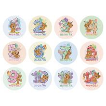 12 шт. Месяц наклейка ребенок фотография веха мемориал месяц новорожденный дети памятный знак карта номер фото реквизит аксессуары