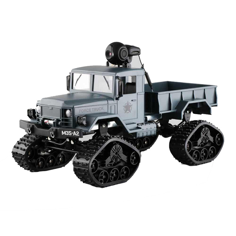 Здесь можно купить  Tracked snow truck with WiFi HD camera FPV real-time transmission RC Car 4WD Replaceable tire 2.4GHz High Speed Military truck  Игрушки и Хобби