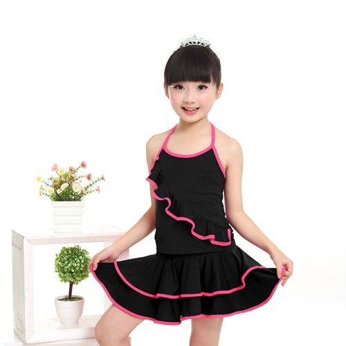 Cheap Child Latin Dance Dress Latin Skirt Suit Practice Competition Dresses Ballroom Dress For Girls