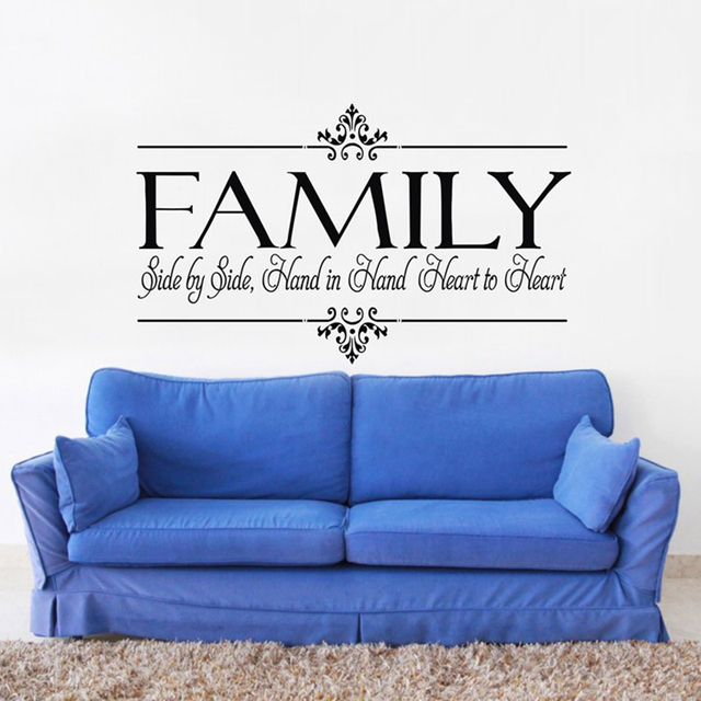 Family Is Heart To Heart Vinyl Wall Sticker Family Quotes For