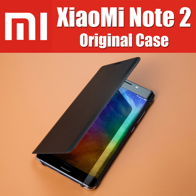 Mi note2 bp1025 original oficial estoque inteligente bolsa em couro magnético flip capas para xiaomi mi note 2 case display flexível