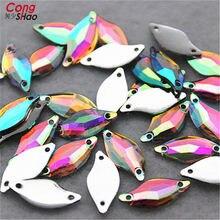 Cong Shao 200 pz 9 20mm AB Resina Trasparente S shape Strass accessori di  cucito 2 Fori di cristallo del Flatback Gioielli Acces. 9f1bf7e4ea58