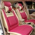 Chica linda de la mujer marca de moda de cuero de LA PU rosa cubierta de asiento de coche universal