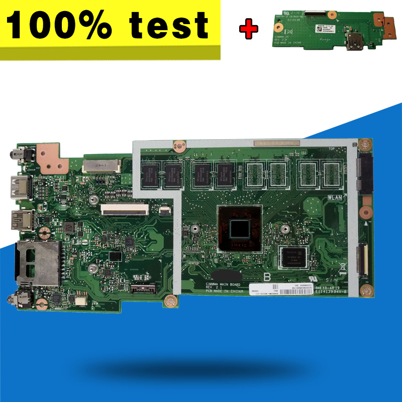 все цены на send board +C300MA MB._2G/N2830/AS(WO/LTE) 32G 90NB05W0-R01800 motherboard For Asus C300M C300MA Laptop motherboard Mainboard