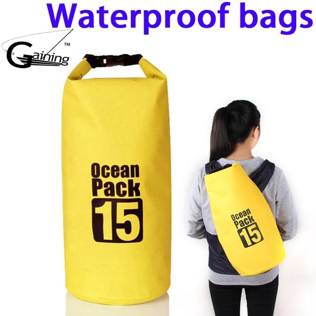 6ebc47dca5 Ocean Pack Outdoor Drifting Waterproof Bags 10L Beach Bucket PVC Tarpaulin  Barrel Pouch Sack Kayaking Dry BAG