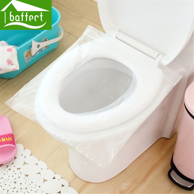 8 pcs 1 Time Toilet Seat Cover for Travel Foldable Thickened ...
