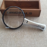 4X 12X lente di fresnel Hand Held Magnifying Glass 108mm Illuminato Reading Zoom Magnifier Loupe con 2 Luci LED