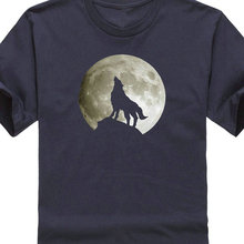2019 New FashionT Shirt Hot Topic Sleeve MenS Crew Neck Lone Wolf Howling At The Moon Short Compression T Shirts Summer Style