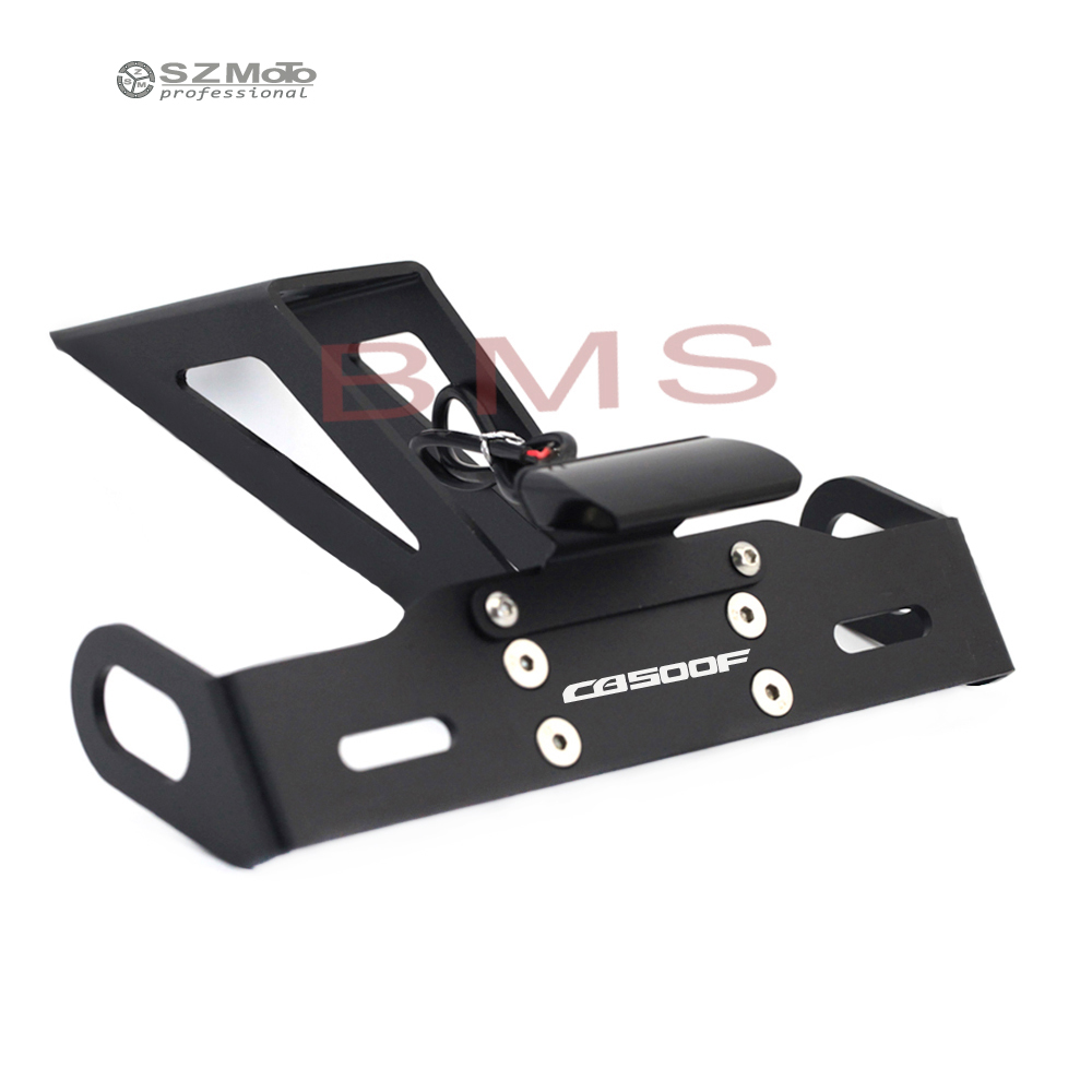 Motorcycle Tail Tidy Fender Eliminator Registration License Plate Holder frame LED Light For HONDA CB500 <font><b>CB500F</b></font> 2016-2019 <font><b>2018</b></font> image