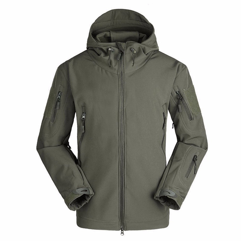 Breathable Men Outdoor Military Tactical Softshell Jacket Men Waterproof Keep Warm Long Sleeve Camping Hooded Warm Outwear Coat lurker shark skin soft shell v4 military tactical jacket men waterproof windproof warm coat camouflage hooded camo army clothing