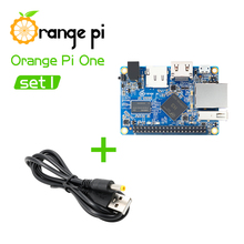 Orange Pi One SET1: OPi One and USB to DC 4.0MM - 1.7MM Power Cable Support Android, Ubuntu, Debian(China)