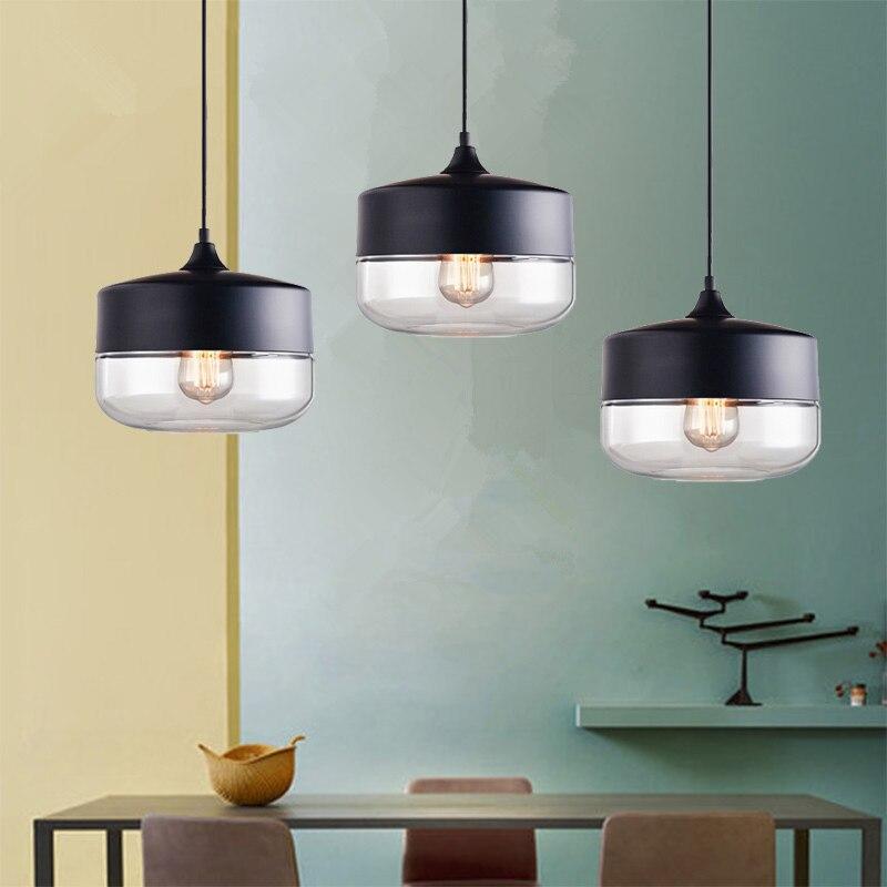 Glass Pendant Light Fixtures Bar Modern Pendant Ceiling ...