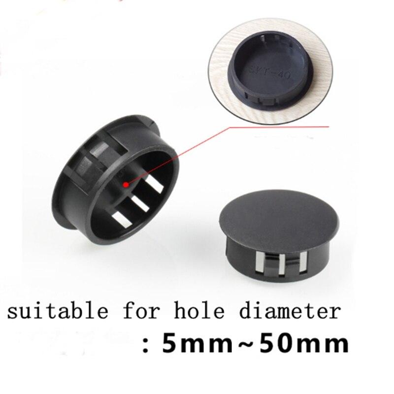20Pcs 64mm Inner Dia PE Plastic End Cap Bolt Thread Protector Tube Cover