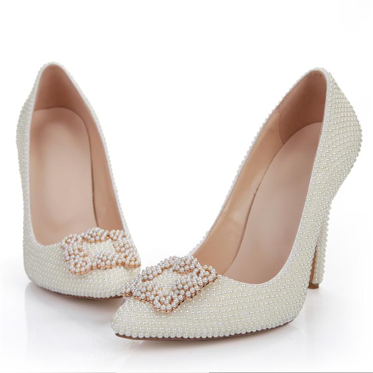 zapatos para vestido de novia color perla – vestidos de mujer