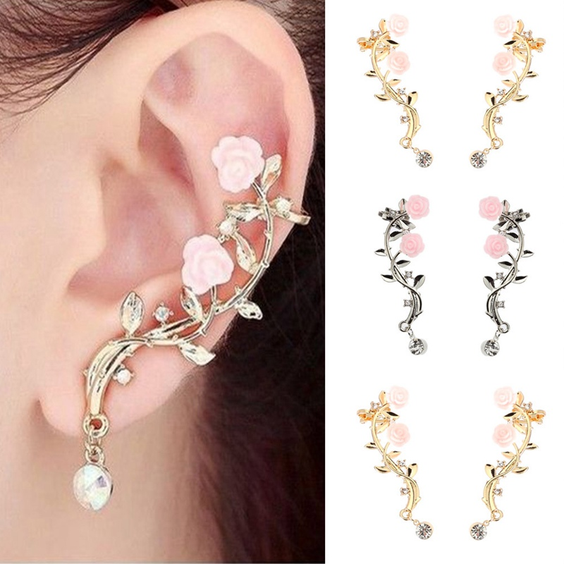 New Arrivals Hot Fashion Rose Flower Branch Earrings Pendants Brincos Oorbellen Tree Branches Drop Earrings For Women Jewelry