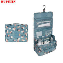 RUPUTIN Women Travel Cosmetic Bags Hanging Wash Bag Makeup Daily Supplies Hanging Toilet Organizer Bag Portable Make Up Bags leaves hanging cosmetic toiletry bags travel organizer beautician necessary functional makeup wash pouch accessories supplies