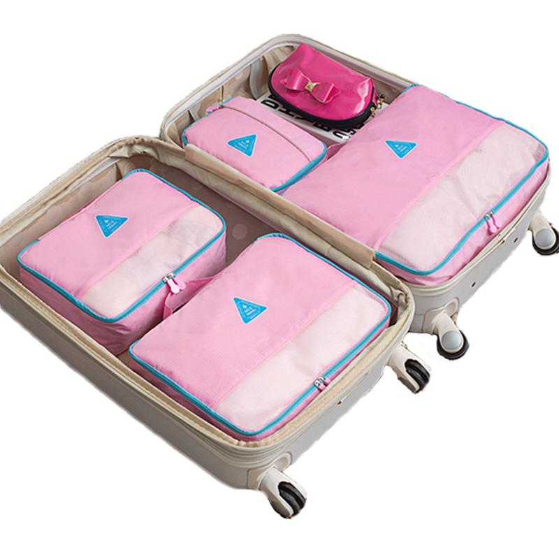 4 TEILE SATZ Spielraumspeicherbeutel Set Kleidung Schuh Dessous Taschen Cube Suitcas Gepck Ordentlich Startseite Closet